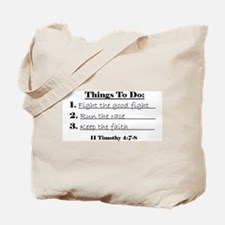 Things to Do Tote Bag