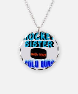 HOCKEY SISTER Necklace Circle Charm
