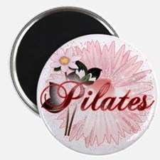 pilates with pink flowers 2 copy Magnet