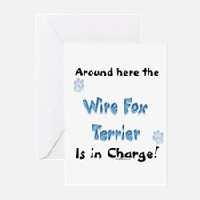 Wire Fox Charge Greeting Cards (Pk of 10)