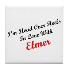 In Love with Elmer Tile Coaster
