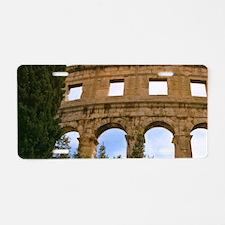 Ruins of 1st century Roman  Aluminum License Plate