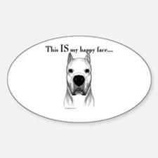 Dogo Happy Face Oval Decal