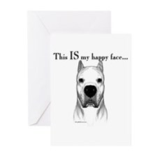 Dogo Happy Face Greeting Cards (Pk of 10)