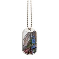 People stand in front of pub's in the Pad Dog Tags