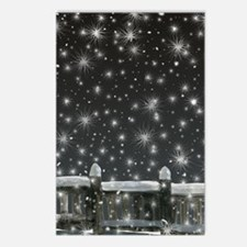 snow at night Postcards (Package of 8)