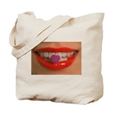 Candy And Lips Tote Bag