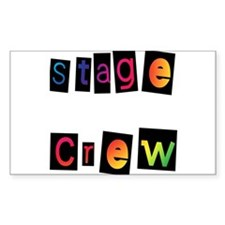 Stage Crew Rectangle Decal