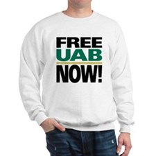 FREE UAB NOW 6x6 Sweatshirt