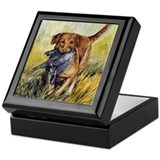 Chesapeake bay retriever Square Keepsake Boxes