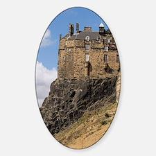 Beautiful famous giant Edinburgh Ca Sticker (Oval)