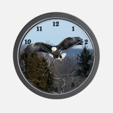 Eagle landing Wall Clock