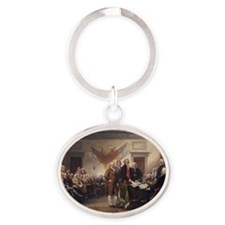 declaration-of-independence-trumball Oval Keychain