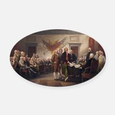 declaration-of-independence-trumba Oval Car Magnet