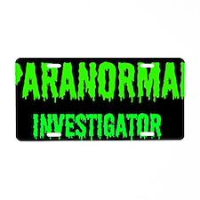 Creepy Legends Paranormal I Aluminum License Plate