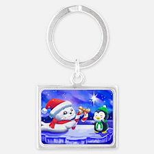 Christmas Seal Landscape Keychain