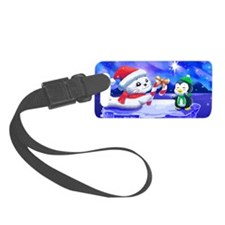 Christmas Seal Luggage Tag