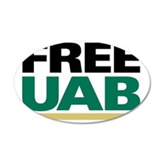 FREE UAB NOW! YARD Sign 35x21 Oval Wall Decal