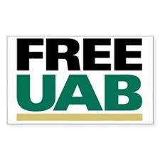 FREE UAB NOW! YARD Sign Decal