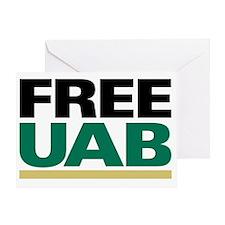 FREE UAB NOW! YARD Sign Greeting Card