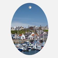 Marina, Findochty, Moray, Scotland,  Oval Ornament
