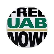 FREE UAB NOW 10x10 Round Ornament