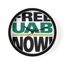 FREE UAB NOW 10x10 Wall Clock