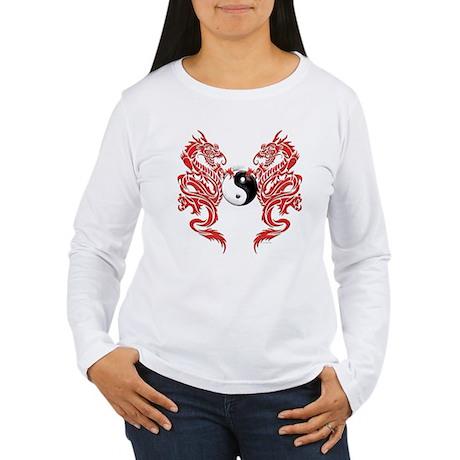Yin Yang Dragons Women's Long Sleeve T-Shirt