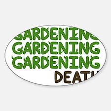 Gardening Sticker (Oval)