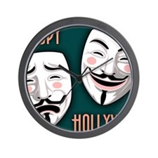 occupy-hollywood-LG Wall Clock