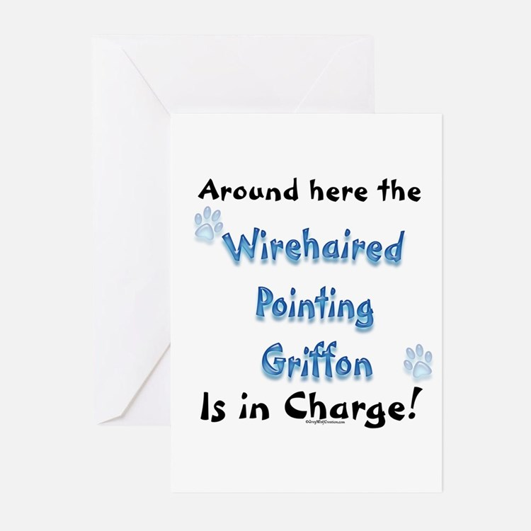 Wirehaired Griffon Charge Greeting Cards (Package