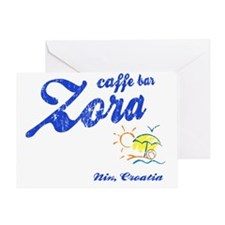 caffebar Zora-shirt Greeting Card