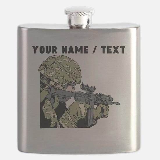 Custom Army Soldier Flask