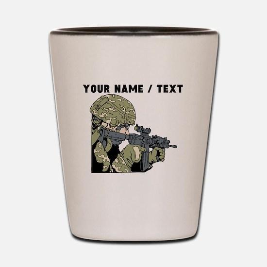 Custom Army Soldier Shot Glass