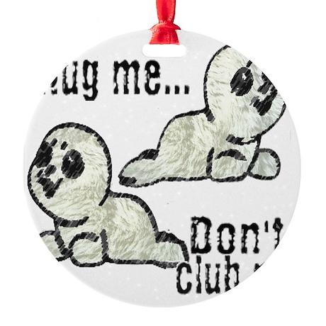 Seals Round Ornament