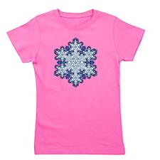 Snowflake Designs - 009 - transparent Girl's Tee