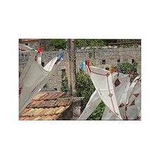 Village of Poljica. Local embroid Rectangle Magnet