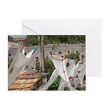 Village of Poljica. Local embroidere Greeting Card