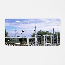 Yugoslavia. Electricity sub Aluminum License Plate