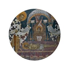 "Frescos at 14 Century Visoki Decani Mo 3.5"" Button"