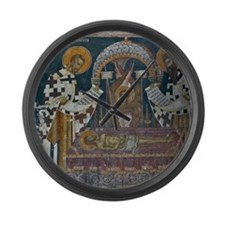 Frescos at 14 Century Visoki Deca Large Wall Clock