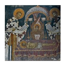 Frescos at 14 Century Visoki Decani M Tile Coaster