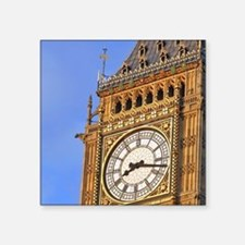 "Famous Big Ben clocktower,  Square Sticker 3"" x 3"""