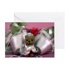 Ballet_slippers_with_teddy_bear Greeting Card