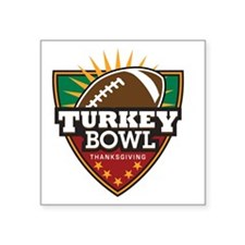 """turkeybowl Square Sticker 3"""" x 3"""""""
