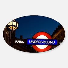 England, London. Underground Tube e Decal