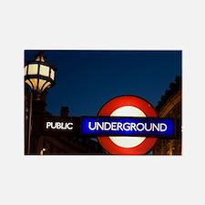England, London. Underground Tube Rectangle Magnet
