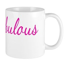 fabulous forty tee black shirt pink  ty Small Mug
