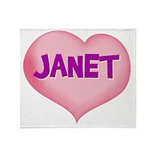 JANET Throw Blanket