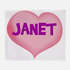 JANET Throw Blanket
